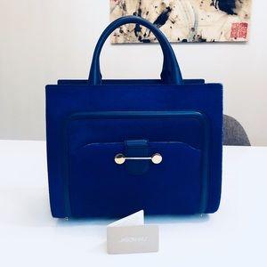 Authentic Jason Wu Daphne Tote Bag -Blue Calf-hair
